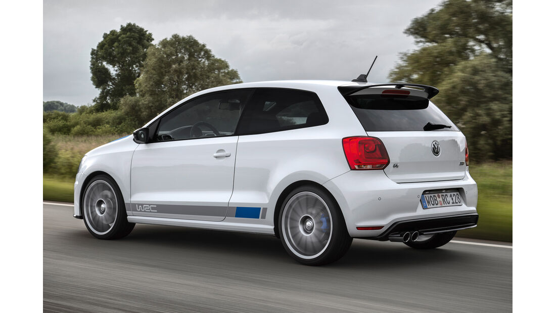 VW Polo R WRC, Heckansicht