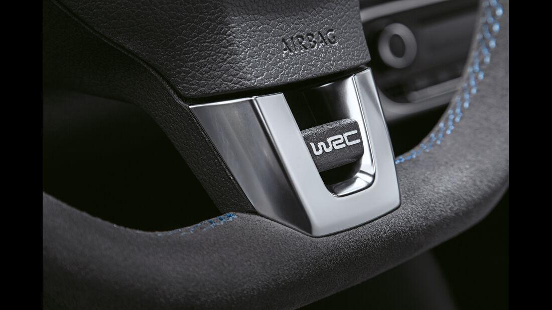 VW Polo R WRC, Lenkrad, Detail
