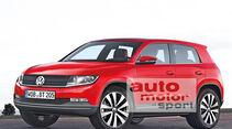 VW Polo SUV, Seitenansicht