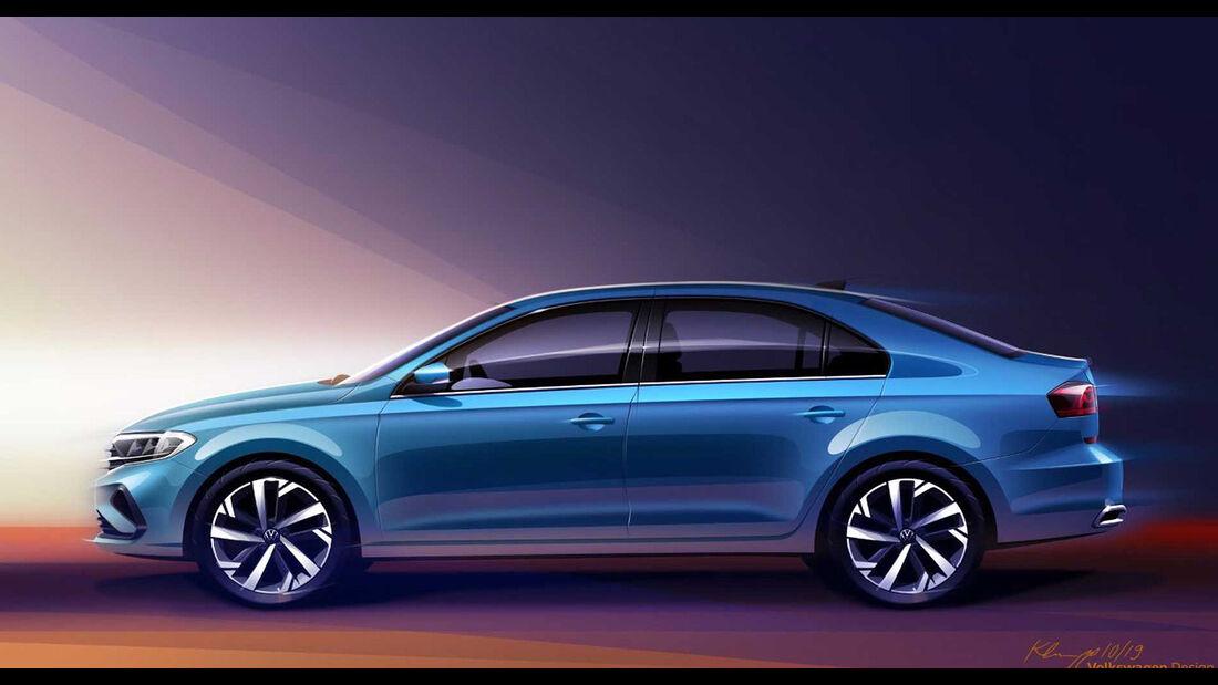 VW Polo Sedan Limousine Teaser