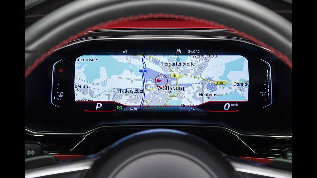 VW Polo VI GTI (2018) AW 2G rot Digitale Instrumente