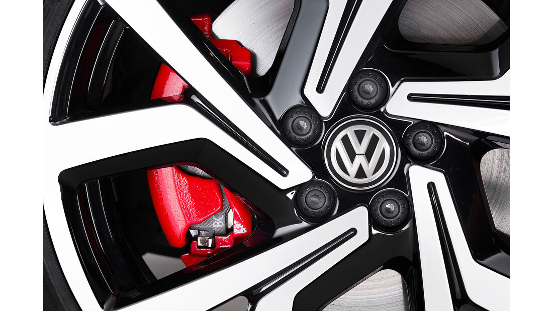 VW Polo VI GTI (2018) AW 2G rot Felge Bremse
