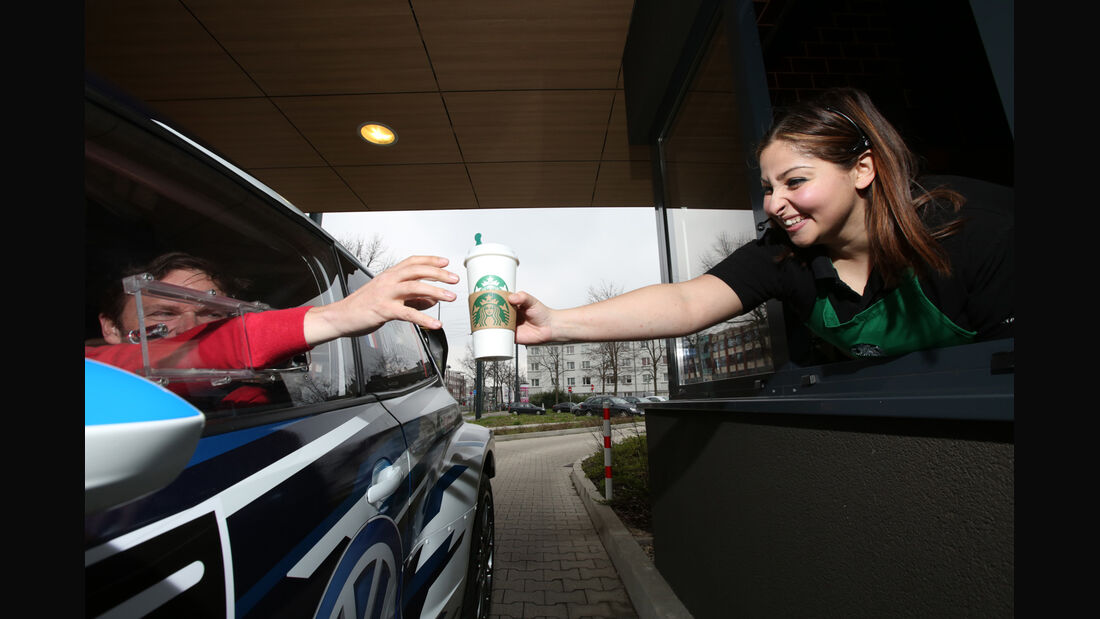 VW Polo WRC, Seitenfenster, Coffee to go