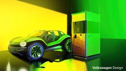 VW Schnellladesäule Powerbank für E-Autos