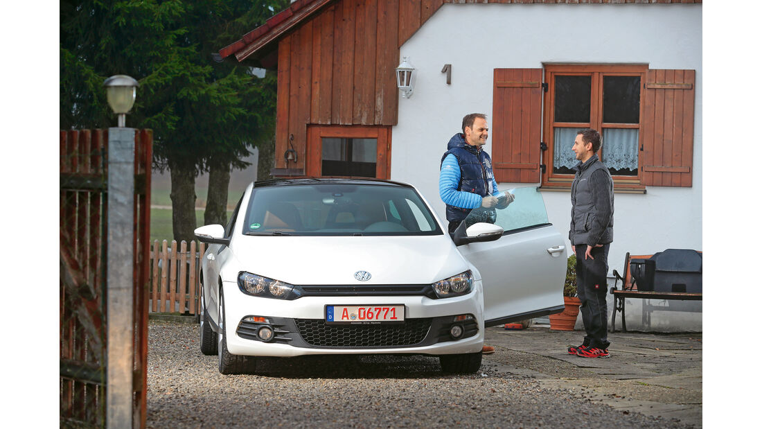 VW Scirocco 2.0 TSI, Frontansicht