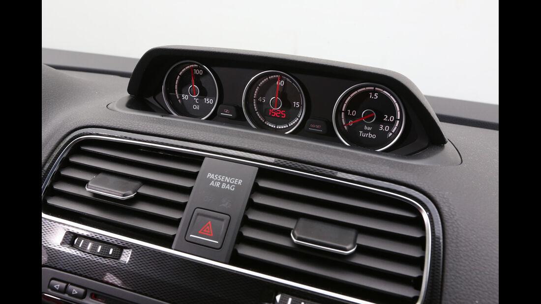 VW Scirocco 2.0 TSI, Luftausströmer, Uhren