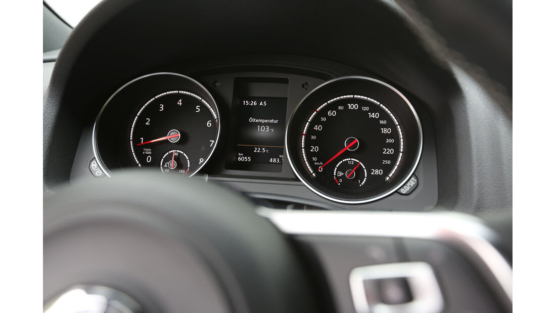 VW Scirocco 2.0 TSI, Rundinstrumente