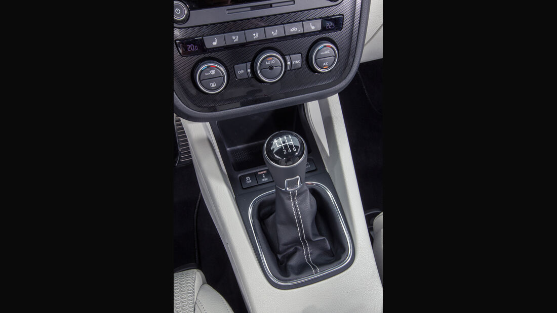 VW Scirocco 2.0 TSI, Schalthebel
