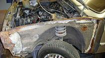 VW Scirocco GL, Motorraum