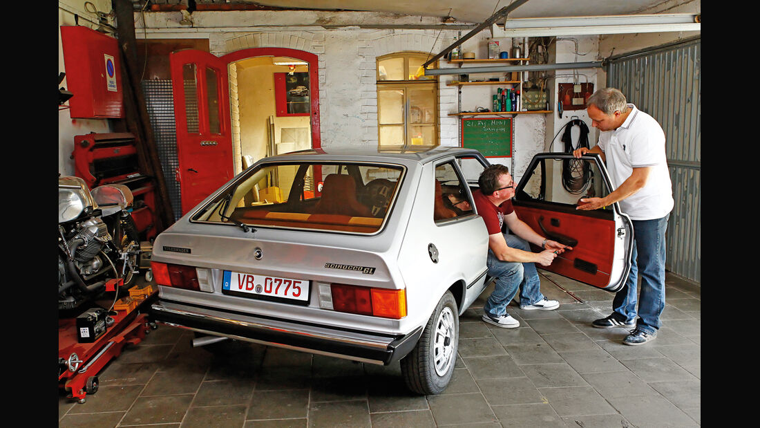 VW Scirocco GL, Tür, Arbeiten