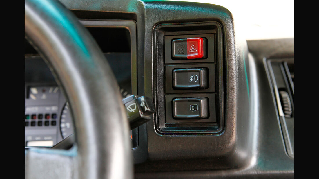 VW Scirocco GT II, Bedienelemente