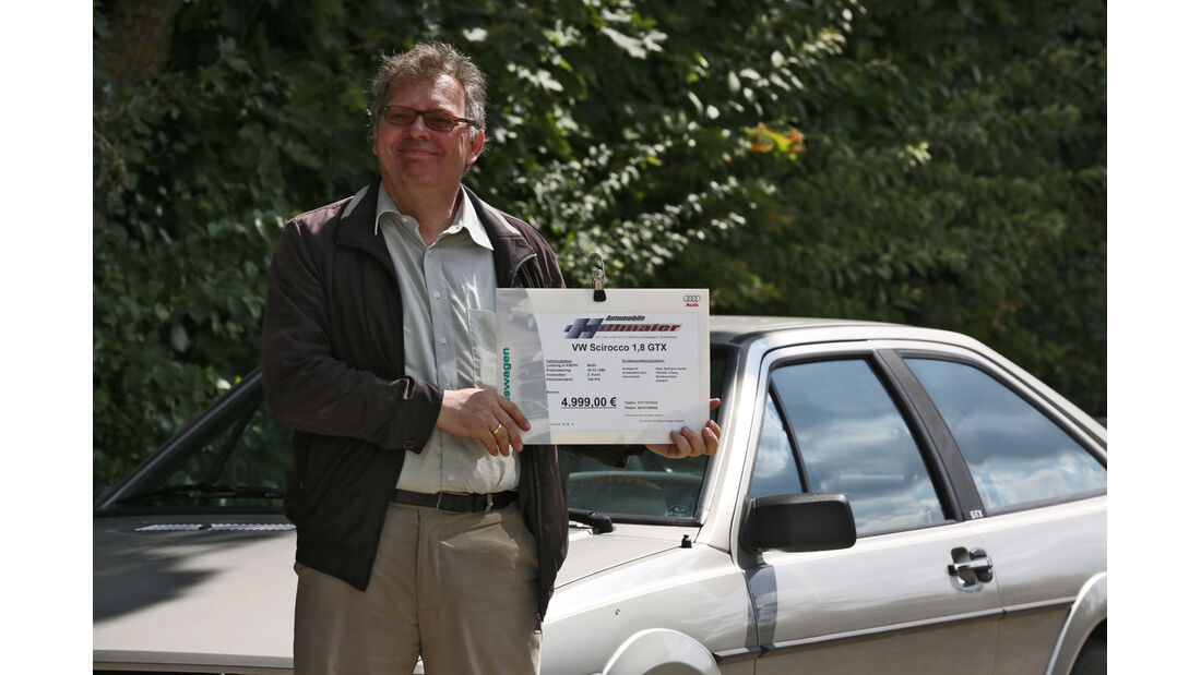 VW Scirocco GTX, Alf Cremers, Peisschild