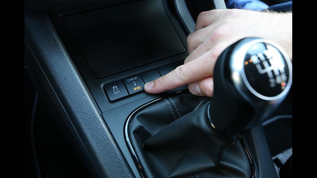 VW Scirocco R, Bedienelemente