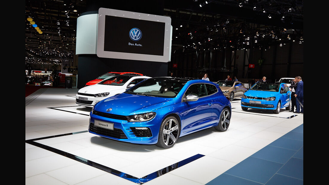 VW Scirocco R, Genfer Autosalon, Messe 2014