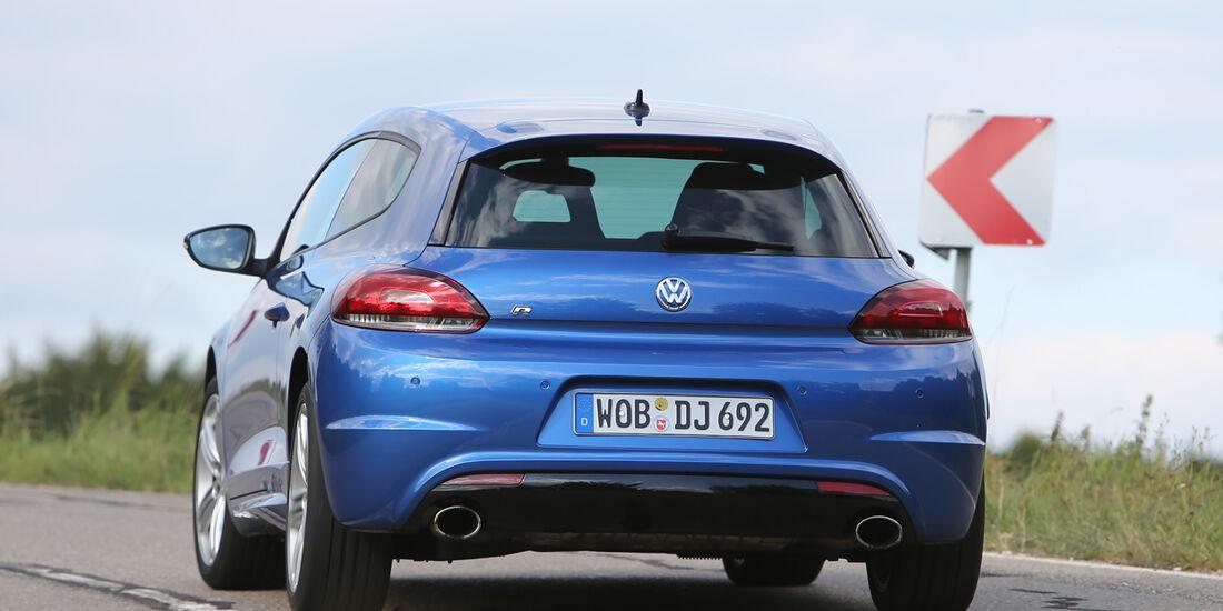 VW Scirocco R, Heckansicht