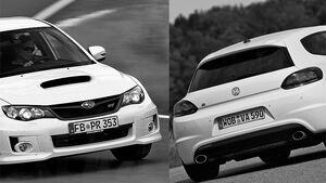 VW Scirocco R, Subaru WRX STI