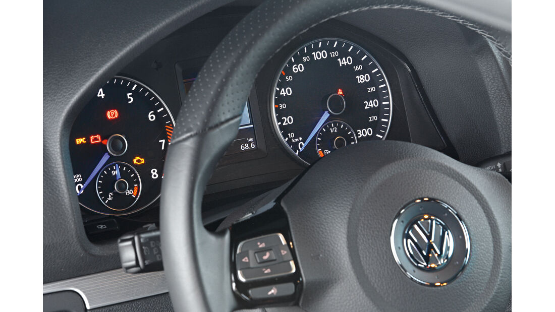 VW Scirocco, Rundinstrumente