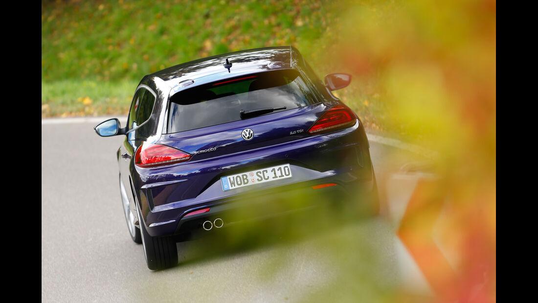 VW Scirocco TDI, Heckansicht