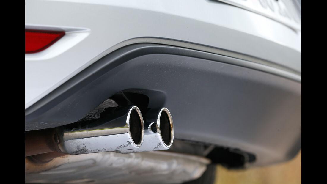 VW Scirocco TSI, Auspufff, Endrohr