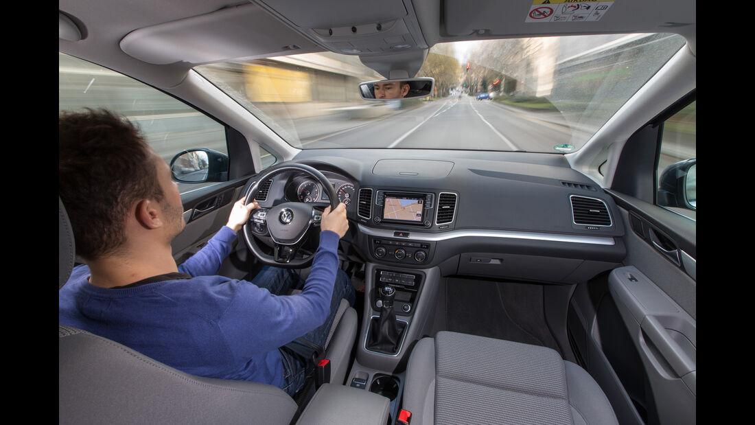 VW Sharan 1.4 TSI, Cockpit, Fahrersicht