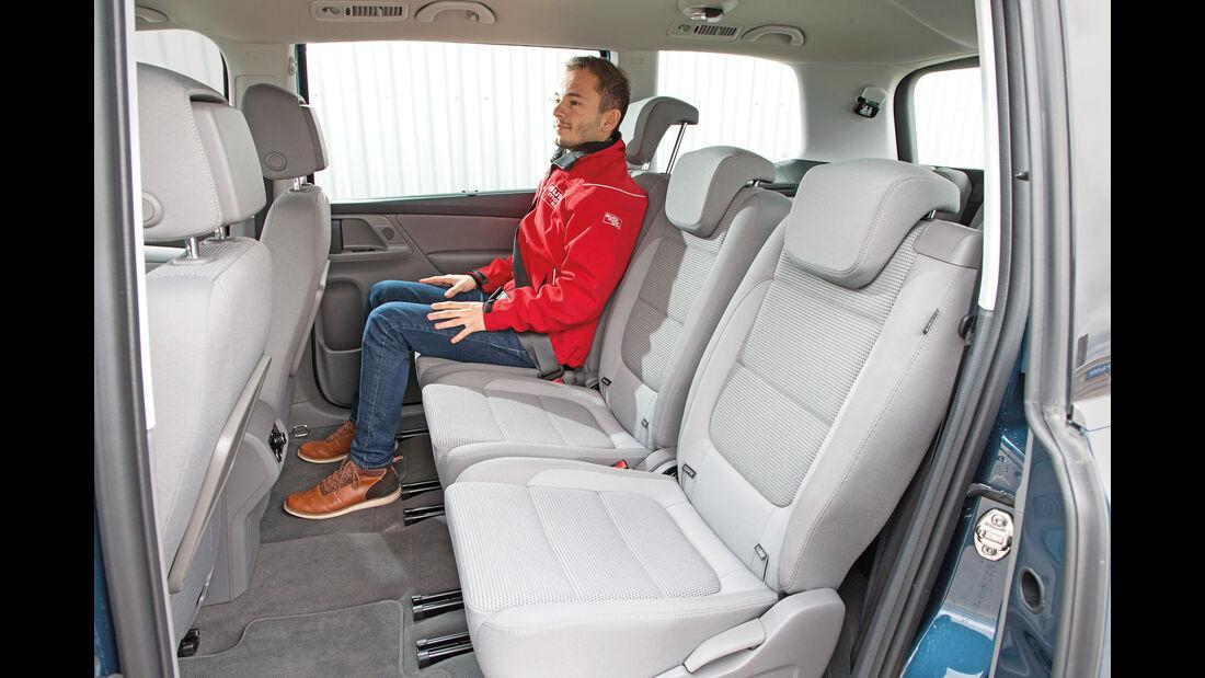VW Sharan 1.4 TSI, Fondsitze