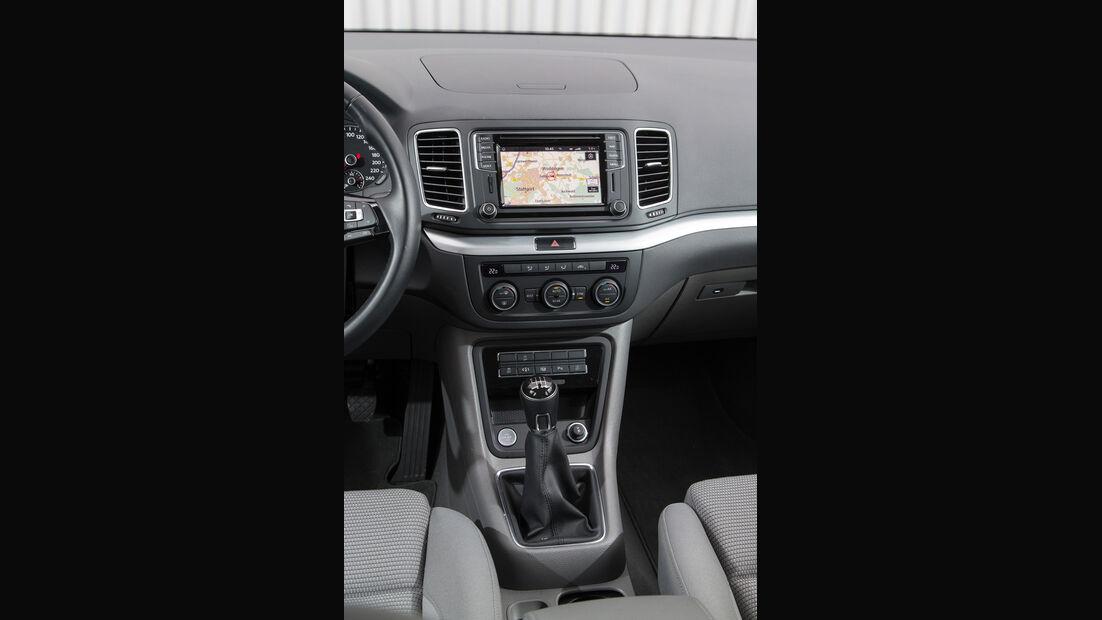 VW Sharan 1.4 TSI, Mittelkonsole