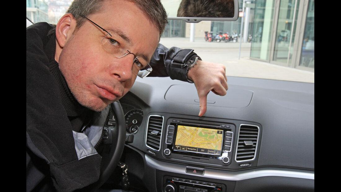 VW Sharan 2.0 TDI, Dirk Gulde, Navi
