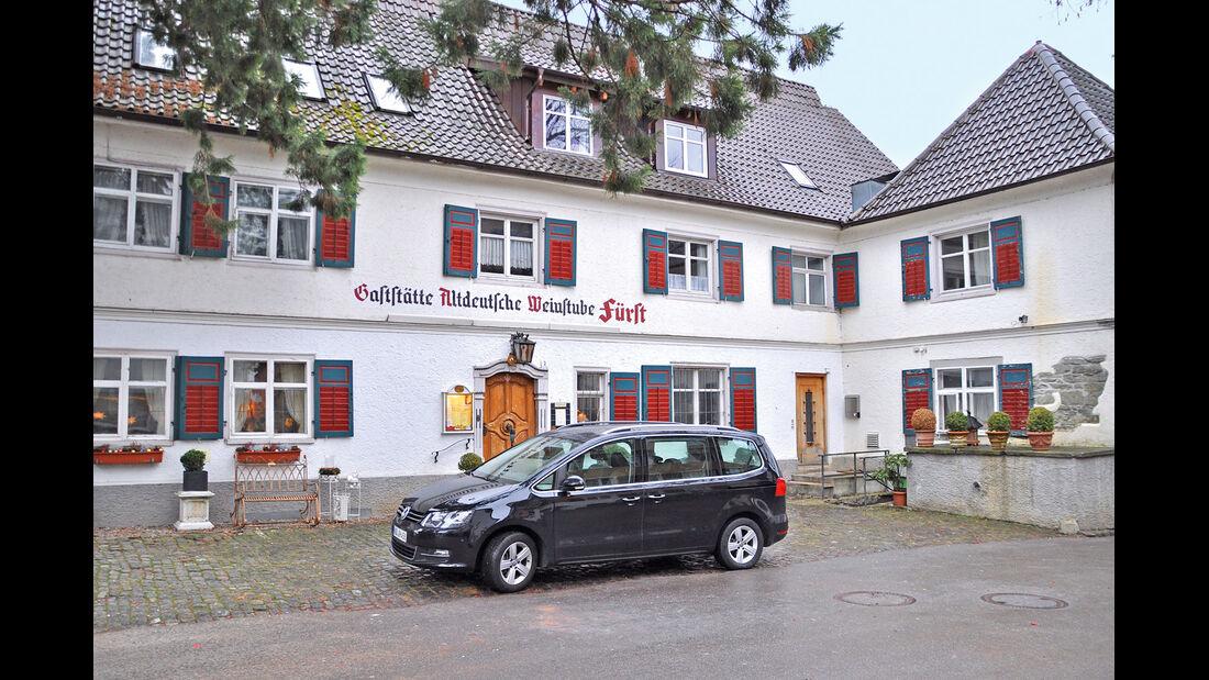 VW Sharan 2.0 TDI, Gaststätte