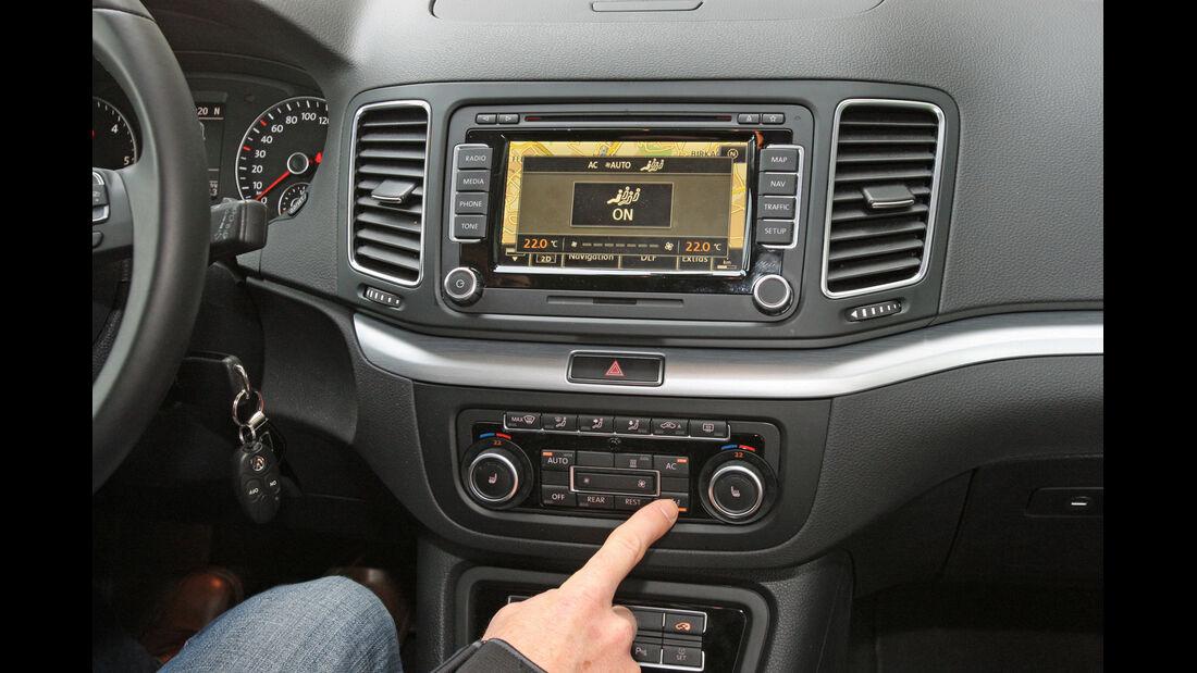 VW Sharan 2.0 TDI, Mittelkonsole