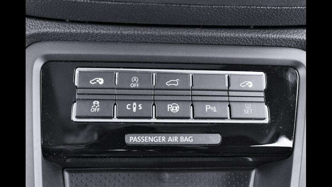 VW Sharan, Bedienknöpfe