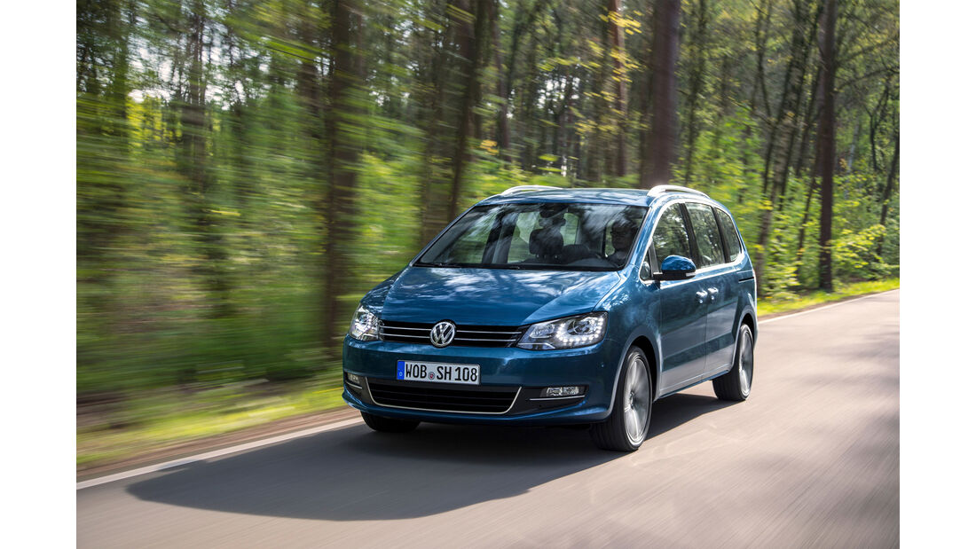 VW Sharan Facelift Fahrbericht 2015