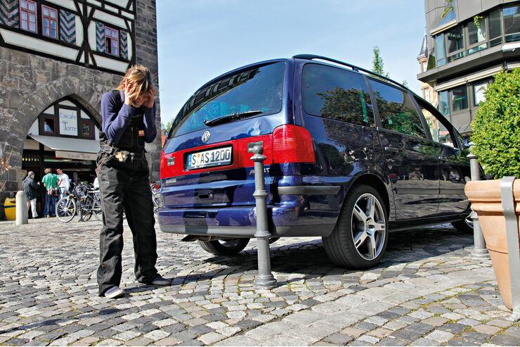 VW Sharan, Heck, Parkdelle