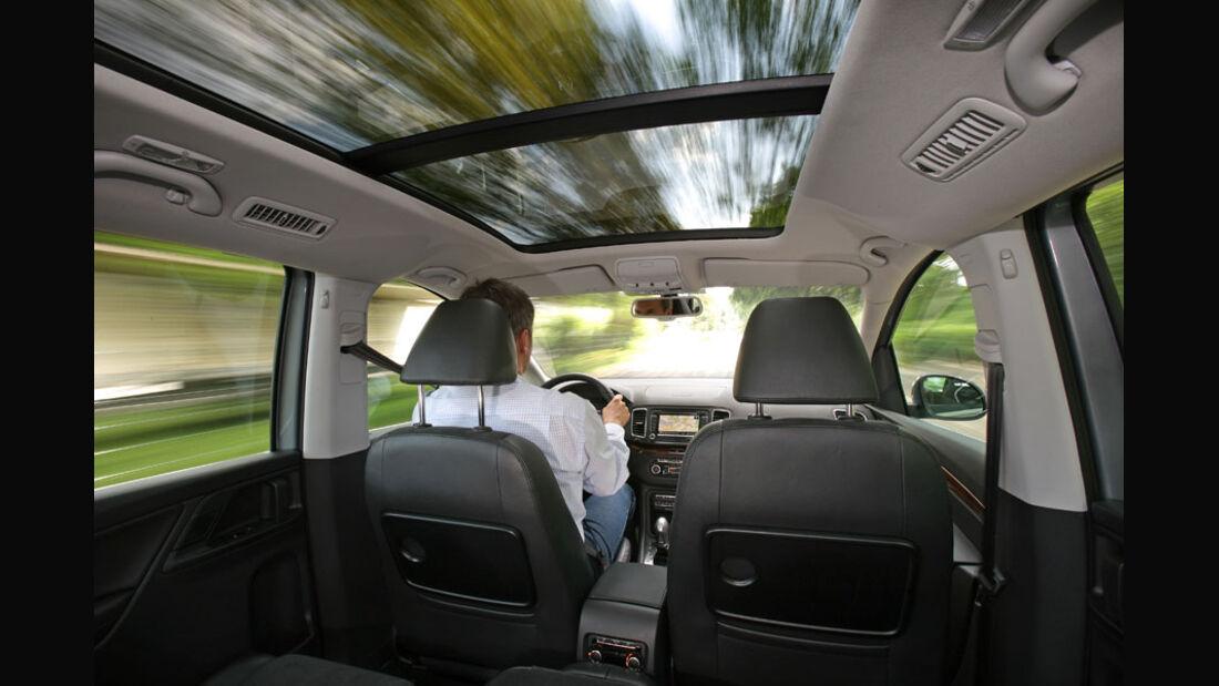 VW Sharan, Innenraum