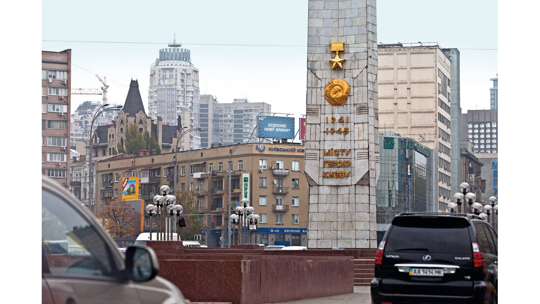 VW Sharan, Kharkov, Straßenszene