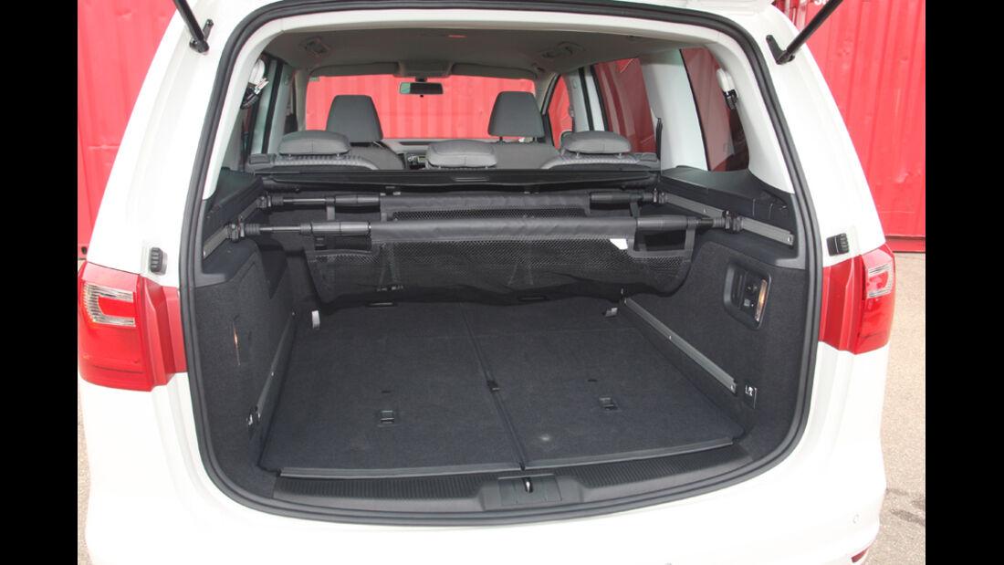 VW Sharan, Kofferraum