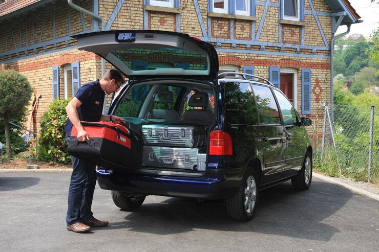VW Sharan, Kofferraum, Ladefläche