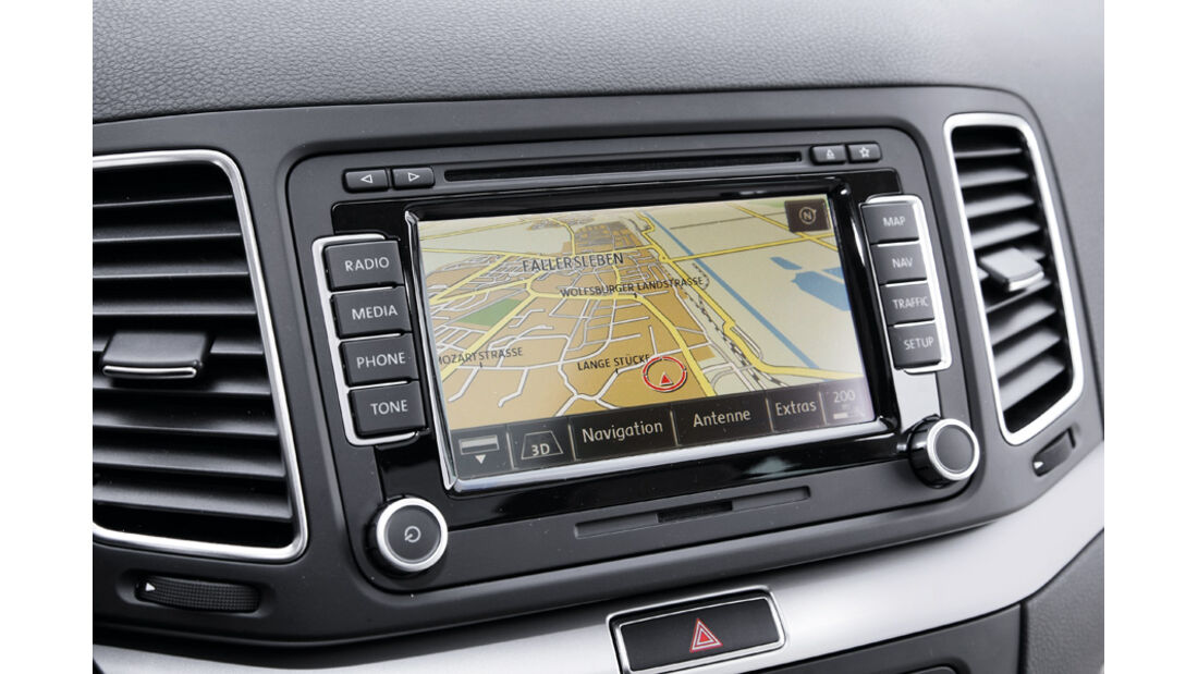 VW Sharan, Multimediasystem, Display