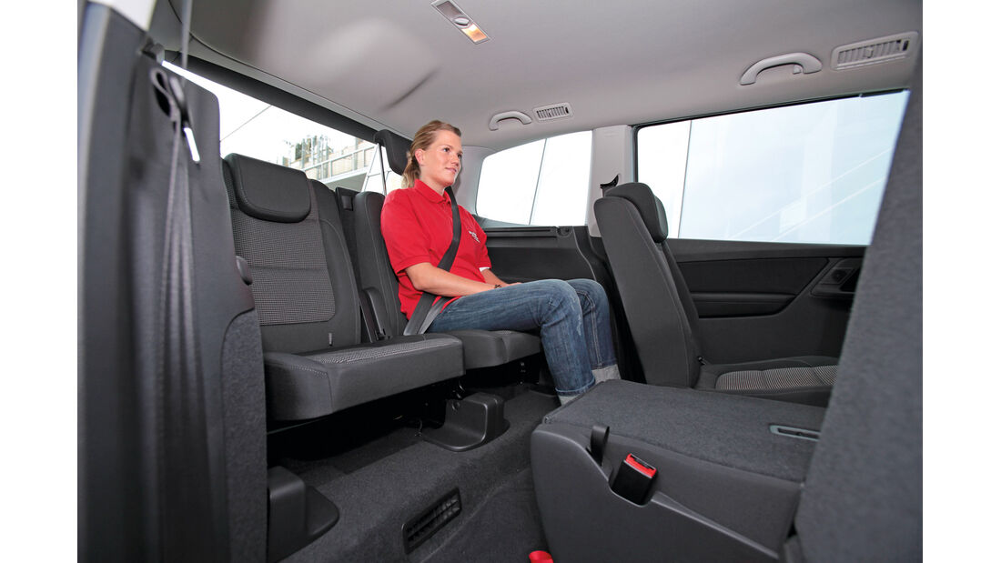 VW Sharan, Rücksitz, Beinfreiheit