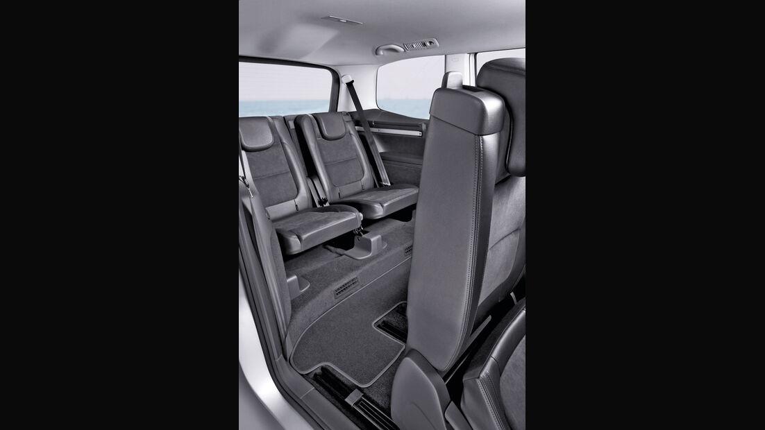 VW Sharan, integrierte Kindersitze