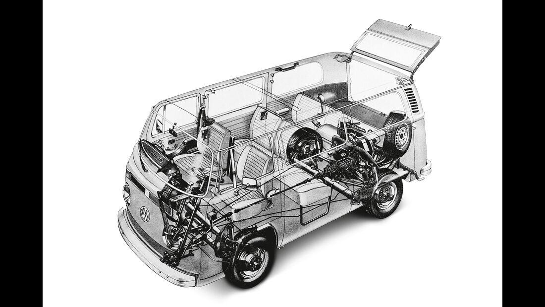 VW T2, Durchsicht