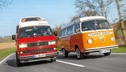 VW T2, VW T3 Westfalia, Frontansicht