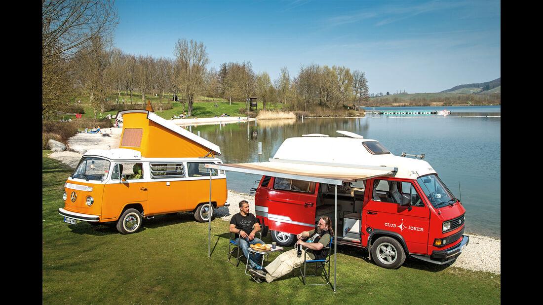 VW T2, VW T3 Westfalia, Seitenansicht