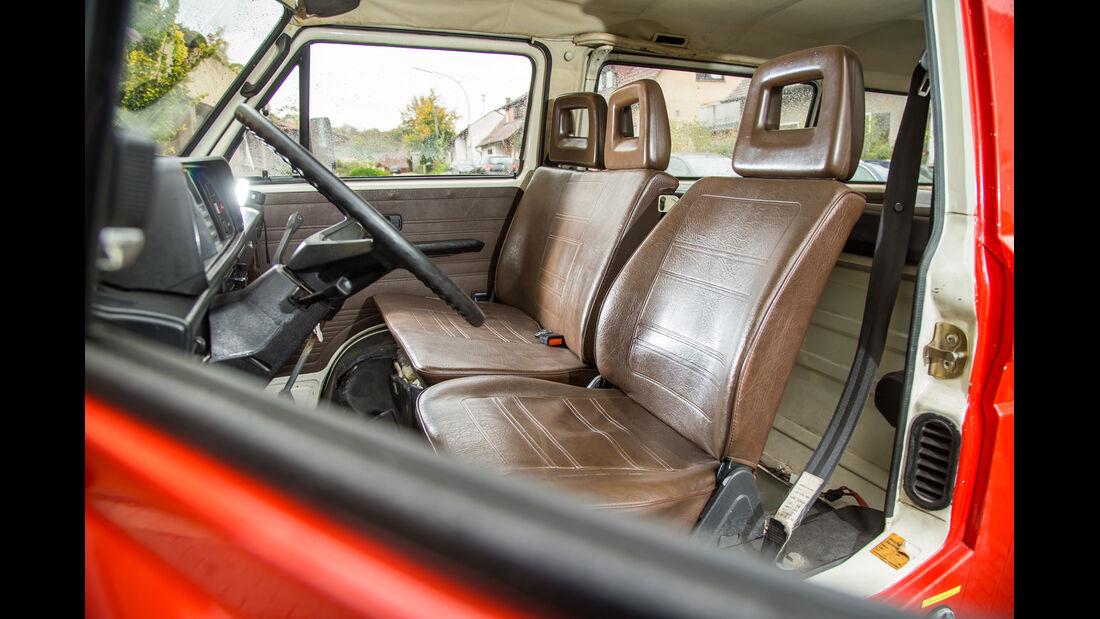 VW T3 1.6 TD, Fahrersitz