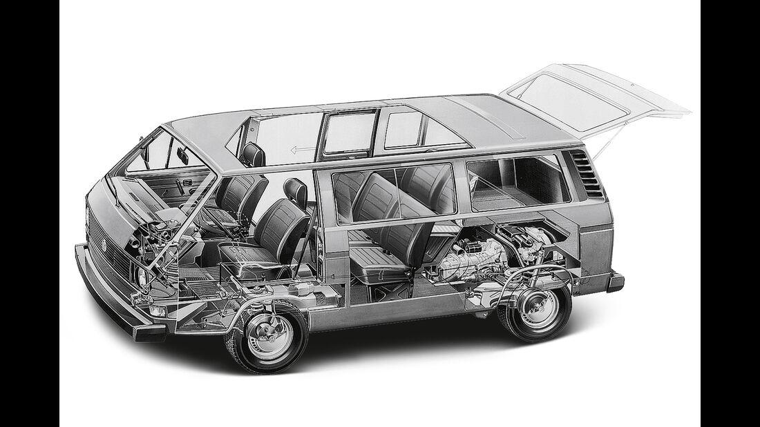 VW T3 Westfalia, Durchsicht