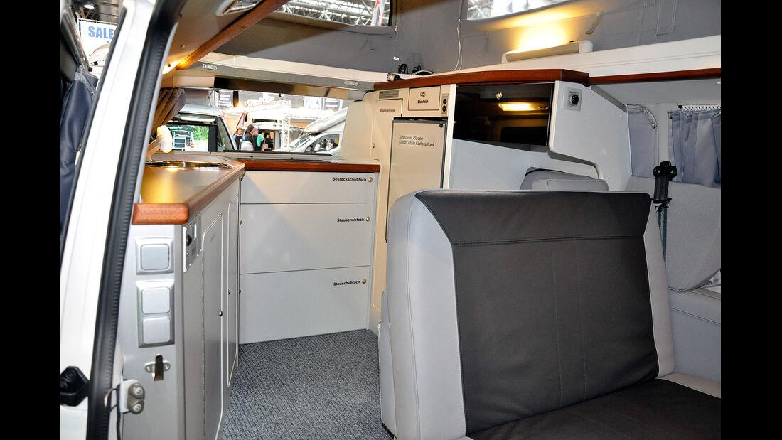 VW T5 Ausbauten, CampMobil, Caravan Salon 2014