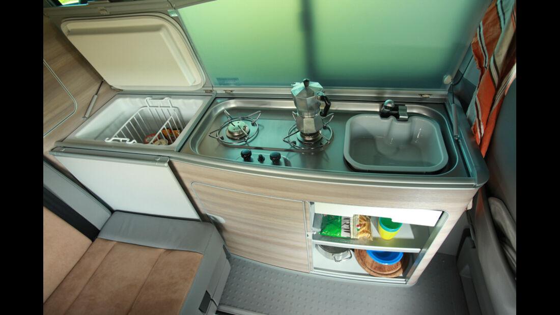 VW T5 California, Küche, Innenraum