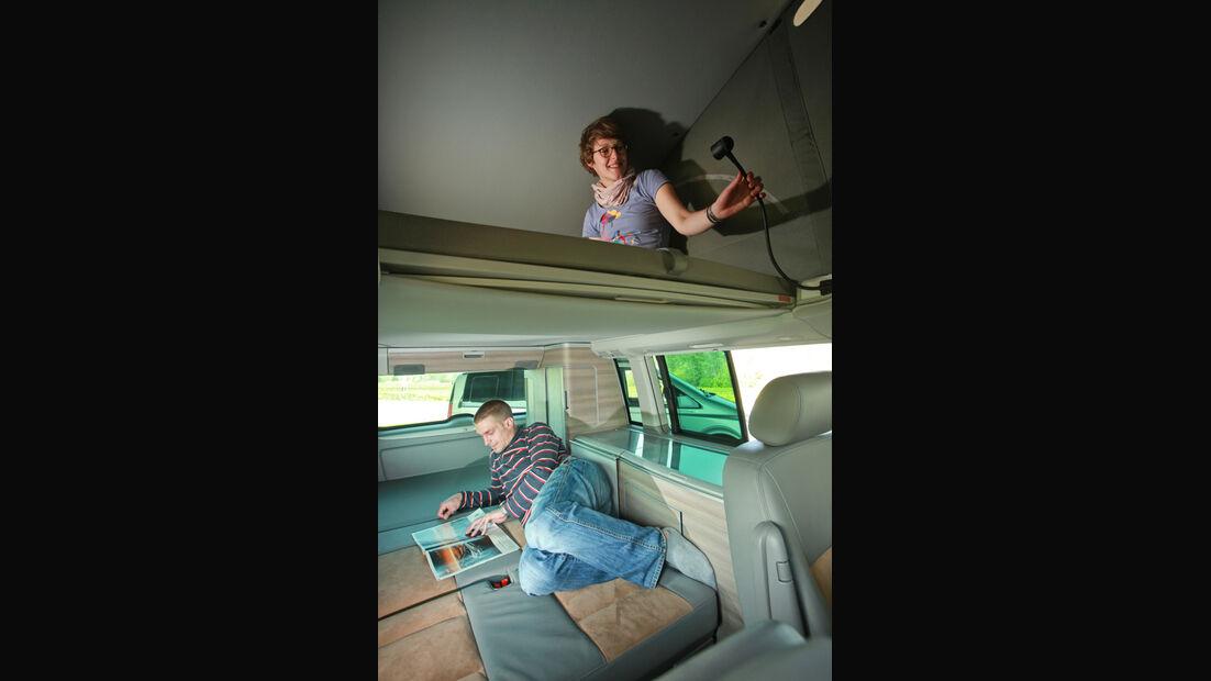 VW T5 California, Liegeflächen, Innenraum, Lattenrost