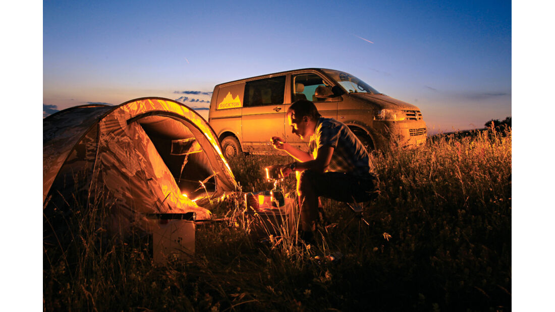 VW T5 Rockton, Camping