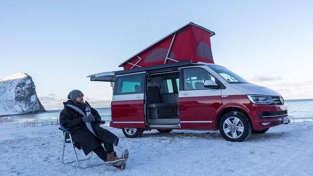 VW T6 California Bulli Camping Lofoten Norwegen