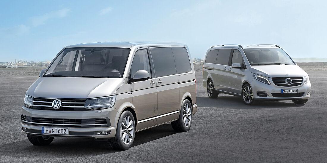 VW T6 Multivan, Mercedes V-Klasse,